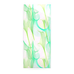 """Kess InHouse - Alison Coxon """"Swim II"""" Metal Luxe Panel (9"""" x 21"""") - Our luxe KESS InHouse art panels are the perfect addition to your super fab living room, dining room, bedroom or bathroom. Heck, we have customers that have them in their sunrooms. These items are the art equivalent to flat screens. They offer a bright splash of color in a sleek and elegant way. They are available in square and rectangle sizes. Comes with a shadow mount for an even sleeker finish. By infusing the dyes of the artwork directly onto specially coated metal panels, the artwork is extremely durable and will showcase the exceptional detail. Use them together to make large art installations or showcase them individually. Our KESS InHouse Art Panels will jump off your walls. We can't wait to see what our interior design savvy clients will come up with next."""