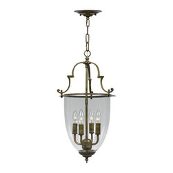 Crystorama - Crystorama Camden Bowl Pendant Light in Autumn Brass - Shown in picture: Cast Brass Pendant; Clear glass - traditional accents designs and Autumn Brass finish