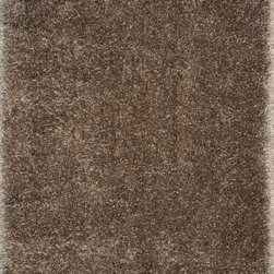 """Loloi - Loloi Cozy Shag CZ-01 (Taupe) 3'6"""" x 5'6"""" Rug - The contemporary Cozy Shag Collection is made in China of thin and thick polyester yarns in ivory, sand, taupe, prune and oasis green"""