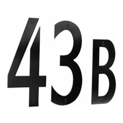 Smedbo - Smedbo House Numbers, Black Stainless Steel - Smedbo House Numbers, Black Stainless Steel