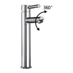 Bathroom Sink Faucets - Best Selling Chrome Finish Swivel Single Hole Mount Cold and Hot Bathroom Sink Faucet
