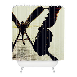 Swallowtail Butterfly Shower Curtain - Liven up your bathroom with this beautifully bold shower curtain emblazoned with an enormous swallowtail butterfly. Fashioned of 100% woven polyester with a printed front, this shower curtain has buttonhole openings for hanging on shower curtain rings (not included), and is custom made for every order.