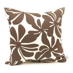 Majestic Home - Outdoor Chocolate Plantation Large Pillow - Add a splash of color and a little texture to any environment with these great indoor/outdoor plush pillows by Majestic Home Goods. The Majestic Home Goods Large Pillow will add additional comfort to your living room sofa or your outdoor patio. Whether you are using them as decor throw pillows or simply for support, Majestic Home Goods Large Pillows are the perfect addition to your home. These throw pillows are woven from Outdoor Treated polyester with up to 1000 hours of U.V. protection, and filled with Super Loft recycled Polyester Fiber Fill for a comfortable but durable look. Spot clean only.