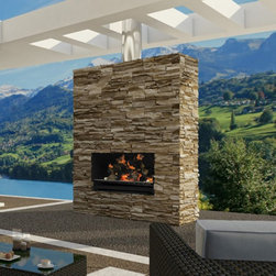 Escea - Escea Outdoor Wood Burning Fireplace Insert/Grill with Optional Fascia - FIRL018 - Shop for Fire Pits and Fireplaces from Hayneedle.com! Create a centerpiece for your entertainment area with the stylish functionality of the Escea Outdoor Wood Burning Fireplace Insert/Grill with Optional Fascia. Its beautiful construction offers a clean and contemporary look. When not relaxing in front of its real wood fire ambiance you can turn up the heat with some charcoal and use it as a heavy duty grill. It features a 4mm steel cooking surface and offers ample space for creating culinary masterpieces. Add the optional fascia to give it a more modern look or keep it without for a traditional appeal that gets noticed. This fireplace insert needs to be enclosed in a non-combustible masonry stone concrete or brickwork. Note: Review any building restrictions or construction permit requirements before installation of an outdoor fireplace. Contact your local zoning commission/homeowners association for details. About EsceaEscea was founded in 2002 in New Zealand on the idea that the home fireplace should not only be functional but remarkably beautiful as well. Since their beginning the company has become a leader in the industry designing manufacturing and distributing quality gas burners and outdoor fireplaces. Escea s success has given them a world-wide clientele and has garnered them multiple awards recognizing their talents and product designs.