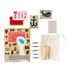 Yellow Owl Workshop - Carve-A-Stamp Kit - This Ultimate DIY kit contains everything you need to carve and print your own custom rubber stamps.