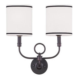 Livex Lighting Inc - Livex Wall Sconces Wall Sconce Bronze -9122-07 - Livex products are highly detailed and meticulously finished by some of the best craftsmen in the business