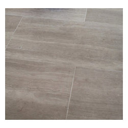 "Mission Stone Tile - Athens Silver Cream Marble Tile - 3"" x 8"" Honed, 1 Square Foot - Sold by the Square Foot"