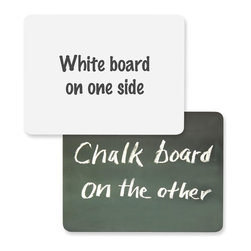 ChenilleKraft - ChenilleKraft Board Chalk/Whiteboard Combo - Surface - Frame - Film - 1 Each - Personal combination board offers two erasable surfaces. One side has a traditional chalkboard surface, and the other side has a dry-erase whiteboard.