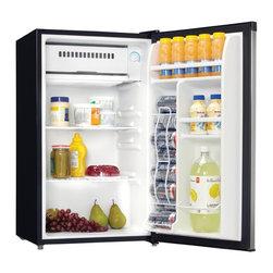 Danby - 3.3 Cu. Ft. Compact Refrigerator - Black/Stainless Steel - -3.3 cu. ft. (92 L) capacity compact refrigerator