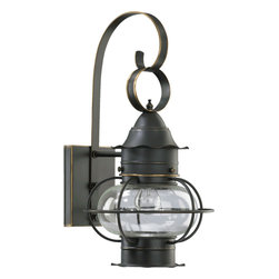 Quorum International - Quorum International 7971-95 Emeril Old World Outdoor Wall Sconce - Quorum International 7971-95 Emeril Black Outdoor Wall Sconce