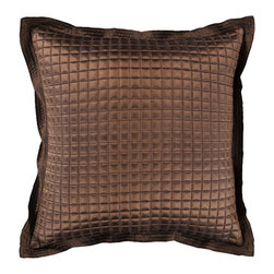 "Surya - Sleek Metallic Square Pillow AR-007 - 22"" x 22"" - Add a touch of class to your space with the sleek metallic design of this pillow. Answering all your pillow needs, the smooth brown coloring of this pillow offers a chic, yet muted elegance that is still sure to spice up any space. This pillow contains a zipper closure and provides a reliable and affordable solution to updating your home's decor."