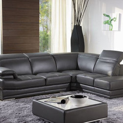 Advanced Adjustable Full Italian Leather Sectionals - Features: