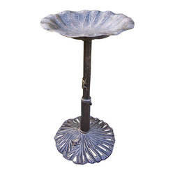 Oakland Living - Oakland Living Lily Bird Bath in Antique Bronze - Oakland Living - Bird Baths Bird Feeders and Bird Houses - 5639AB - About This Product: