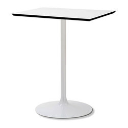 DomItalia Furniture - Crown-Q Square Kitchen Dining Table - Suitable for outdoor use, Crown-Q Square Kitchen Dining Table is square table with lacquered steel frame and White high pressure laminate top.
