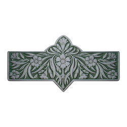 "Inviting Home - Dianthus Pull (antique pewter-sage) - Hand-cast Dianthus Pull in antique pewter-sage finish; 4-3/8""W x 2-2/8""H; Product Specification: Made in the USA. Fine-art foundry hand-pours and hand finished hardware knobs and pulls using Old World methods. Lifetime guaranteed against flaws in craftsmanship. Exceptional clarity of details and depth of relief. All knobs and pulls are hand cast from solid fine pewter or solid bronze. The term antique refers to special methods of treating metal so there is contrast between relief and recessed areas. Knobs and Pulls are lacquered to protect the finish. Alternate finishes are available. Detailed Description: The Dianthus knobs bring the sophisticated feel the antique homey feel to your cabinets. These pulls will be a great accent to old-world cabinets as well as bringing a polished feel to any antiqued furniture. Sometimes antique finishes end up looking a bit shabby and drabby but installing these knobs will make the cabinets pure chic. It would be a better choice to keep with Dianthus pulls if you would like to use them in conjunction with the pulls. Dianthus knobs are part of English Garden Hardware Collection. Reflecting the meticulous effort that produced these stunning gardens from a bygone era each of the knobs and pulls in this line features individually hand-cast and hand-finished design work. There are soft graceful roses and poppies (McKenna's Rose Knobs and Poppy Knobs) reminiscent of classic beauty and elegance. While other like Dianthus Pulls or Mountain Ash knobs feature crisply detailed styling with colorful background. Each knob's design marries Mother Nature and Craftsmanship into decorative hardware that adds beauty to any room of your home."