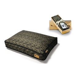 P.L.A.Y. - P.L.A.Y. Frolic Rectangular Bed Cover Olive Small - The dynamic design on the P.L.A.Y. Frolic Rectangular Bed Cover is perfect for every modern home. Made by local SF artist David Collins, this design rings true to the active and playful nature of dogs. The rectangular bed cover is made of 100% soft breathable allergy free cotton for ultimate comfort while the even basting stitching makes it durable enough to last years. Your pup will definitely have some sweet dreams on this pillow after running around all day.  Designed for the Frolic rectangular pet bed. Looks great in living room, family room or SUV. 100% natural cotton covering is soft, breathable and allergy-free. Furniture-grade craftsmanship and even-basting stitching ensures dog-years of use. Custom-made P.L.A.Y. zipper makes it easy to slip cover off for washing or replacement for a new style. Made in a facility that meets the strict quality standards for infant and children products. Momo-approved and tested by her four-legged friends.