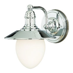 Vaxcel Lighting - Marina Bay 1L Vanity Light - Vaxcel Lighting products are highly detailed and meticulously finished by some of the best craftsmen in the business.
