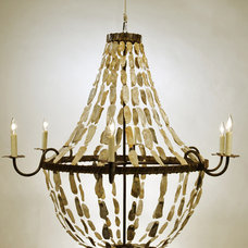 eclectic chandeliers by Cottage & Bungalow
