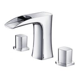 Fresca - Fresca FFT3076CH Fortore Widespread Mount Bathroom Vanity Faucet - Chrome - Fresca FFT3076CH Fortore Widespread Mount Bathroom Vanity Faucet - Chrome