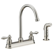 Traditional Kitchen Faucets by Door Corner