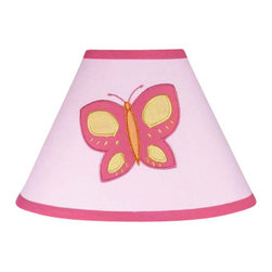 Sweet Jojo Designs - Butterfly Pink & Orange Lamp Shade - Butterfly Pink & Orange Lamp Shade by Sweet Jojo Designs is a beautifully designed childrens lamp shade that is made to fit small desk-sized lamp bases (base not included). The lampshade attaches securely on the lamp's light bulb socket and the light bulb is twisted in through the opening at the top.Lamp Shade Dimensions: 4x7x10.