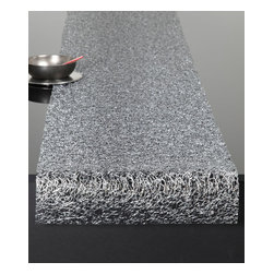 Chilewich - Chilewich Rectangle Metallic Lace Runner, Silver - A spill of silver, or so it appears, covers your table with a refined modern sensibility. This runner is made of durable and easy care vinyl, printed with silver foil. The result is a happy mesh of artistry and at-home practicality.