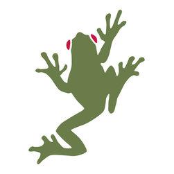My Wonderful Walls - Tree Frog Stencil for Painting - - Tree frog wall stencil for jungle theme wall mural