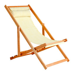 Gallant & Jones - Nungwi Chair - Deck chair with Fabric Sling and Pillow