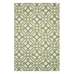 "Loloi Rugs - Loloi Rugs Weston Collection - Ivory / Green, 3'-6"" x 5'-6"" - Feast your eyes on this. Hand-tufted in India of 100% wool, the tastefully designed Weston Collection features vibrant colors and bold, graphic patterns that instantly uplift the mood of your room. What's more, each Weston rug is crafted with a combination of colorful cut pile and ivory loops - adding a sense of depth and drama to these amazingly textural rugs."