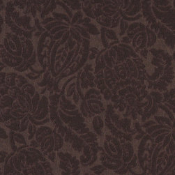 Brown Large Scale Floral Woven Matelasse Upholstery Grade Fabric By The Yard - This material is great for indoor upholstery applications. This Matelasse is rated heavy duty, and is upholstery weight. It is woven for enhanced appearance.