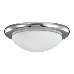 Monte Carlo - One Light Nickel Fan Light Kit - One Light Nickel Fan Light Kit