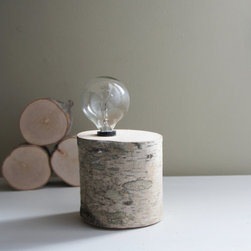 White Birch Forest Lamp, Natural White Birch Wood by Urban+ Forest - A glowing birch log seems like the perfect antidote to a gloomy day spent indoors.