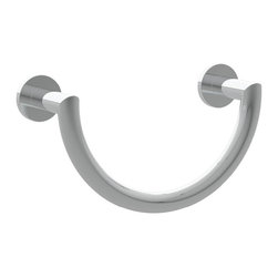 "Ginger - Ginger 4605/PN Polished Nickel Kubic Kubic Towel Ring with Two - Kubic Towel Ring with Two Mounting PostsTowel Ring6.1""H x 9.5""W x 3""D"