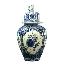 Royal Sphinx - Consigned Vintage Blue Delft Vase Ginger Jar - Product Details