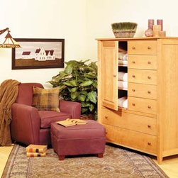 PRAIRIE 7 DRAWER WARDROBE - This bedroom collection rivals the simple, timeless, elegant qualities of authentic shaker furnishings. Gentle tapered legs and feet, smooth surfaces, and solid hardwood construction make this collection one that fits well with both traditional and contemporary styles.