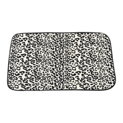 "Faux Fur Bath Mat, Snow Leopard - ""Snow Leopard"" Faux Fur Bath Mat, Size 20""x31"". Give your bathroom an icy sizzle with our ""Snow Leopard"" Multi-Skinned Faux Fur Bath Mat. This Large-Sized (20'' w x 31'' l) bath mat is soft, fast drying, and has a slip-resistant latex backing for added protection. Part of our Animal Instincts Collection, this mat coordinates perfectly with our ""Snow Leopard"" Faux Fur Shower Curtain and our ""Snow Leopard"" Resin Shower Curtain Hooks, each sold separately.   Machine wash in warm water, line dry, reshape as needed"