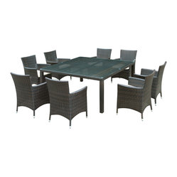 Channels Island Outdoor Wicker Patio 9 Piece Dining Set