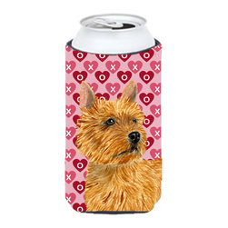 Caroline's Treasures - Norwich Terrier Hearts Love and Valentine's Day Tall Boy Koozie Hugger - Norwich Terrier Hearts Love and Valentine's Day Portrait Tall Boy Koozie Hugger Fits 22 oz. to 24 oz. cans or pint bottles. Great collapsible koozie for Energy Drinks or large Iced Tea beverages. Great to keep track of your beverage and add a bit of flair to a gathering. Match with one of the insulated coolers or coasters for a nice gift pack. Wash the hugger in your dishwasher or clothes washer. Design will not come off.