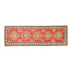 1800GetARug - Tribal Design Kazak Runner Hand Knotted Rug Sh11804 - About Tribal & Geometric