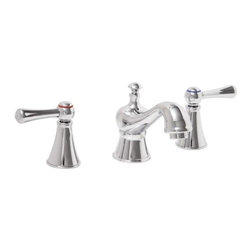 PREMIER - Sonoma Lead-Free Widespread Two-Handle Lavatory Faucet, Chrome (WaterSense) - Premier Faucet has partnered with the U.S. Environmental Protection Agency's WaterSense program to help consumers save water for future generations and decrease costs on utility bills. The Sonoma lavatory faucet provides a flow rate of 1.5 gallons per minute, reducing water consumption by 30% without sacrificing performance. This Sonoma faucet's unique styling with precise lines and distinctive handles will instantly transform your bathroom's look back to a special era. Time-honored English design meets modern convenience with Sonoma's lead-free brass construction, ceramic disc technology, and an environmentally friendly low-flow aerator. This widespread lavatory faucet features a classic chrome finish with a matching pop-up to add exquisite style to your bathroom. Conserve water, not style. Choose this Sonoma WaterSense faucet to help protect the future of one of our greatest natural resources-water. Sonoma lavatory faucets also comply with the requirements of the Uniform Plumbing Code and the Americans with Disabilities Act. Sonoma widespread lavatory faucets are suitable for 4-inch to 12-inch on-center 3-hole installations. This faucet meets the strict lead-free requirements of California and Vermont. The Sonoma lavatory faucet offers outstanding performance, robust durability, and provides a convenient spout reach of 5-1/8 inches. It is backed by Premier's industry-leading Limited Lifetime Warranty.