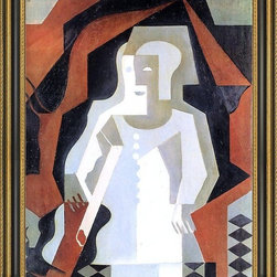 """Art MegaMart - Juan Gris Clown - 16"""" x 20"""" Framed Premium Canvas Print - 16"""" x 20"""" Juan Gris Clown framed premium canvas print reproduced to meet museum quality standards. Our Museum quality canvas prints are produced using high-precision print technology for a more accurate reproduction printed on high quality canvas with fade-resistant, archival inks. Our progressive business model allows us to offer works of art to you at the best wholesale pricing, significantly less than art gallery prices, affordable to all. This artwork is hand stretched onto wooden stretcher bars, then mounted into our 3 3/4"""" wide gold finish frame with black panel by one of our expert framers. Our framed canvas print comes with hardware, ready to hang on your wall.  We present a comprehensive collection of exceptional canvas art reproductions by Juan Gris."""