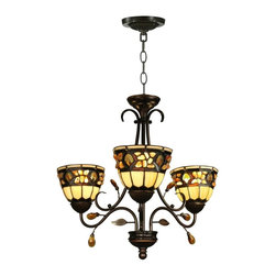 Dale Tiffany - Dale Tiffany Pebblestone Chandelier Golden - Product Details