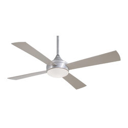 "Minka Aire - Minka Aire F523-ABD Aluma Wet Brushed Aluminum 52"" Outdoor Ceiling Fan + Remote - - Features All Aluminum Construction"