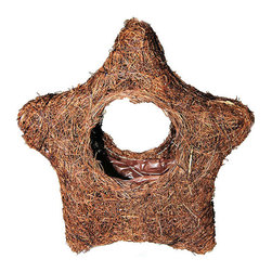 """Master Garden Products - Small Rattan Holiday Star Planter, 4""""W x 10"""" H - Dress up your home for the holidays with these rattan star planters. They can be hung on your Christmas tree or placed on your fireplace mantel as a holiday decor. Can be used as a planter or as decoration."""