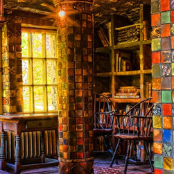 Fonthill Den - Book smart. This amazing print is rendered in boldly beautifully colors that almost lend it a three-dimensional perspective. It's the perfect addition to your art collection, one that's limited to only 100 copies. Award-winning photographer, Jimi Iannizzotto, captures the interior of New Jersey's Fonthill Castle, an image of a den that will look perfect in yours.