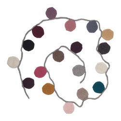 Garlands, Circles - Add a soft and subtle dose of color to the space with this circle garland from Oeuf.