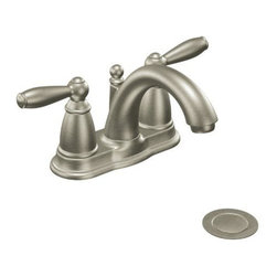 MOEN INCORPORATED - Moen Brantford Lavatory Faucet 2-Handle Lead Free Nickel - 2-handle lavatory faucet with drain assembly.