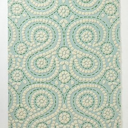 Anthropologie - Swirling Fiore  Rug - Wool; cotton backingProfessionally cleanImported