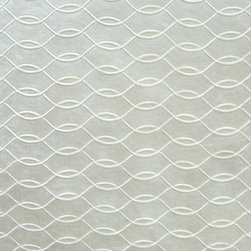 Brushed Velvet Lattice 1 Upholstery Fabric, White - This brushed velvet is very dressy and has a decorative lattice design cut into the foreground. The fabric is suitable for elegant upholstery, cornice/headboards, and other decorative uses.This woven can be railroaded and has a reflective, almost metallic sheen.The fabric has a white tone, is available in limited quantities and is an exceptional buy.