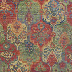 Fabulous Fabrics - Colorful tapestry upholstery in red, green, blue